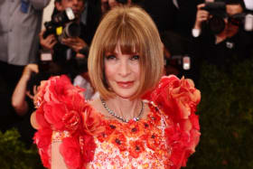 "Anna Wintour, wearing Chanel, arrives at The Metropolitan Museum of Art's Costume Institute benefit gala celebrating ""China: Through the Looking Glass"" on Monday, May 4, 2015, in New York. (Photo by Charles Sykes/Invision/AP) For Anna Wintour Melbourne story."