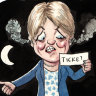 Big-ticket item: Coalition stalwart labours a point