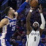 Sixers ride 51-point quarter to rout Brooklyn Nets