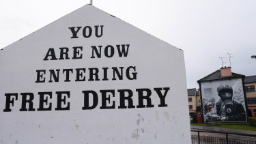 Hard won peace: A sign in Derry, Northern Ireland