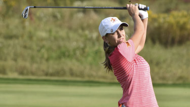 Spanish-born Celia Barquin Arozamena was a champion golfer for Iowa State University.