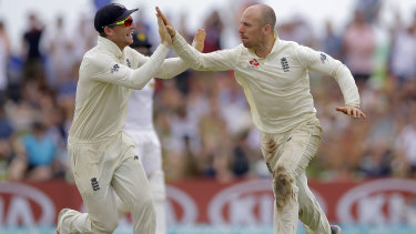 Jack Leach (left) was man of the match in the Test outing against Ireland last year.