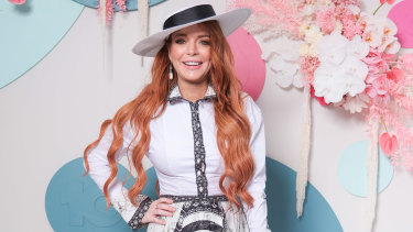 Lindsay Lohan attending the Network 10 Marquee.