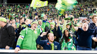 Raiders fans will be out in force in Sydney on Sunday.