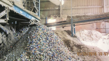 There were many fire risks inside the glass sorting centre, Hume Council has warned.