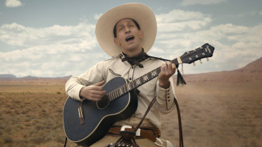 Tim Blake Nelson as Buster Scruggs.