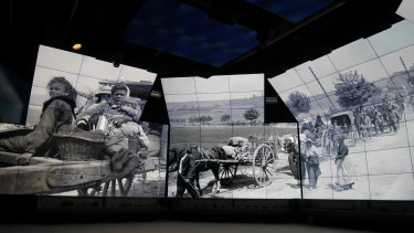 A display at the Sir John Monash Centre.
