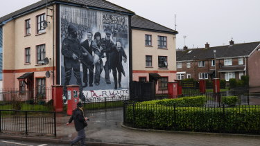 The past depicted in present Derry/Londonderry, Northern Ireland.