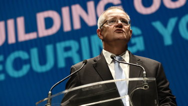Scott Morrison launching the Liberal Party's campaign
