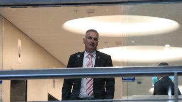 NSW MP John Sidoti leaving ICAC on Tuesday.