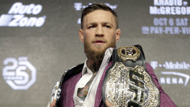 Showman: Conor McGregor relishes the spotlight ahead of his return to the octagon.