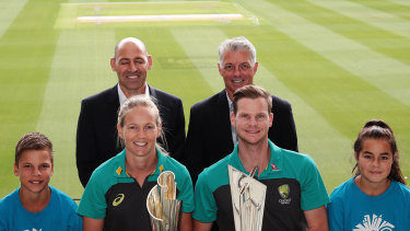 Nick Hockley (back row, left) is the chief executive of the Twenty20 World Cup.