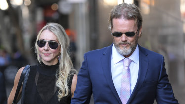 Craig McLachlan outside court in April.