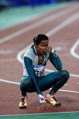 Cathy Freeman at the Sydney Olympics.