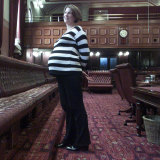 Pavey, pregnant with Emily, after she won pre-selection for an Upper House seat in 2002.