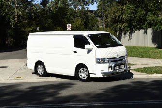 The coroner leaves Anglicare's Newmarch House aged care facility at Caddens on Thursday.