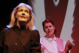Heather Lythe as Violet and Anthea Davis as St Teresa.