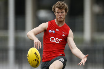 Nick Blakey is Lance Franklin's unofficial protege at the Sydney Swans.