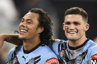 Jarome Luai and Nathan Cleary have been denied attending next Wednesday's game to celebrate with their Blues' buddies.