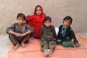Some of the children of deceased Afghan villager, Ali Jan, who was the victim of an alleged war crime.