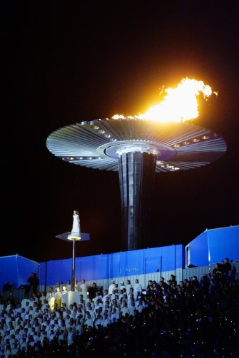The flame sits above Sydney.