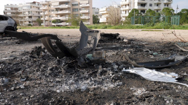 The site of the car bomb attack that injured Amad 'Jay' Malkoun in Glyfada, Athens.