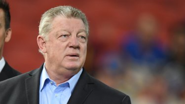 On the way out: Penrith general manager of football Phil Gould.