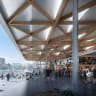 Built on the water with fish scale roof: Sydney's new look fish market