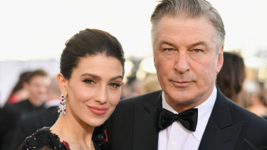 Hilaria and Alec Baldwin at the Screen ActorsGuild Awards in January 2019.