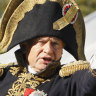 Drunk Napoleonic history professor found with severed arms in backpack