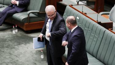 Australian Prime Minister Scott Morrison and Treasurer Josh Frydenberg.