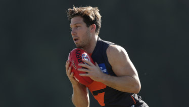 Toby Greene will notch up his 150th AFL game against Port Adelaide on Sunday.