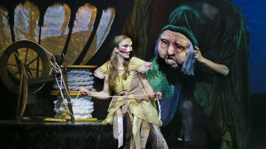 Nadine Dimitrievitch and puppeteers in The Sleeping Beauty.