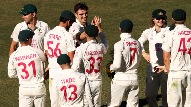 Australia require eight wickets to take a 2-1 series lead.