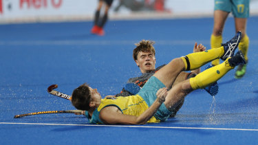 The Kookaburras overcame a disappointing semi-final loss to the Netherlands on Saturday (pictured) to beat England in the bronze medal playoff on Sunday.