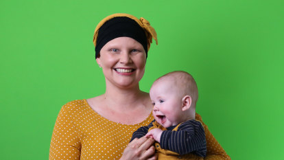 On the day she was due to give birth, Kymme started chemo