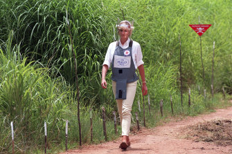 In 1997, Princess Diana was photographed visiting a minefield in Huambo, Angola.
