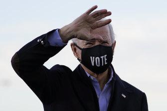 President-elect Joe Biden campaigning for Democratic Senate candidates in Atlanta.