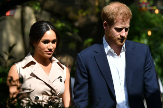 Meghan and Harry arrive at an event in Johannesburg.