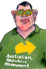 James Packer has donated another $250,000 to the Australian Republican Movement. Illustration: Matt Golding