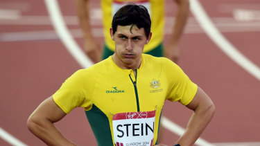 Another lifetime: Jake Stein competes at the Glasgow Commonwealth Games in 2014.