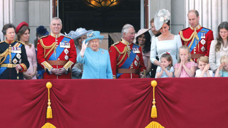 The royal family celebrating the Queen's birthday this weekend.