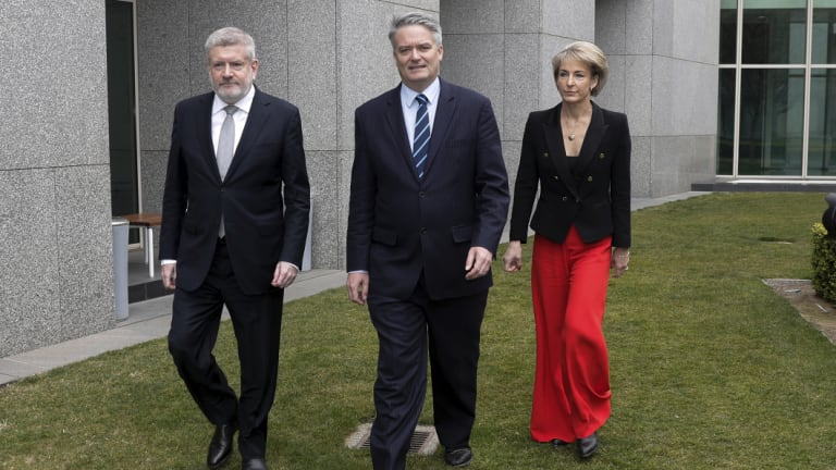 Michaelia Cash was one of three key ministers, alongside Mitch Fifield and Mathias Cormann, to withdraw their support for Malcolm Turnbull  on Thursday.