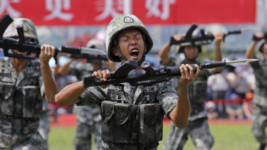 The Chinese army released a promotional video on August 1 for its Hong Kong-based troops at a time of uncertainty over whether the military will intervene in the city's protests.