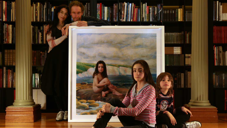 Polixeni Papapetrou and Robert Nelson in 2008 with Olympia Nelson, then 11, and Solomon Nelson, 9.