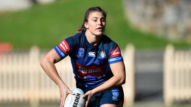 "Gearing up for Friday's match at North Sydney Oval, Sergis says she it is simply ""amazing"" how far the game has come thanks to the label of Origin."