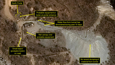 The Punggye-ri nuclear test site pictured on April 12.