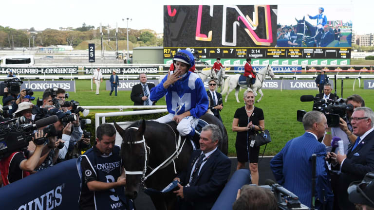 Wonderful: The crowd shows its appreciation for Winx at Randwick.
