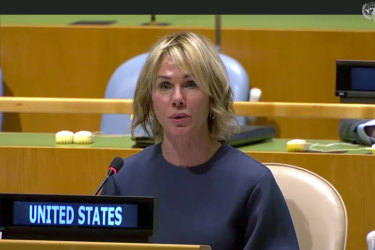 Kelly Craft, the US ambassador to the United Nations, opened her remarks with a blunt rejoinder.