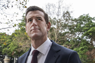 Ben Roberts-Smith outside the Federal Court in Sydney on Tuesday.